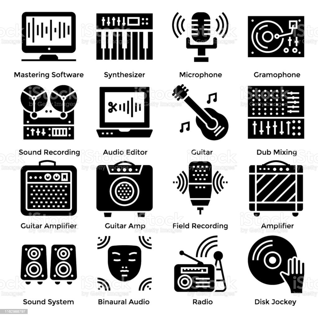 Sound Design Icons Stock Illustration Download Image Now Istock