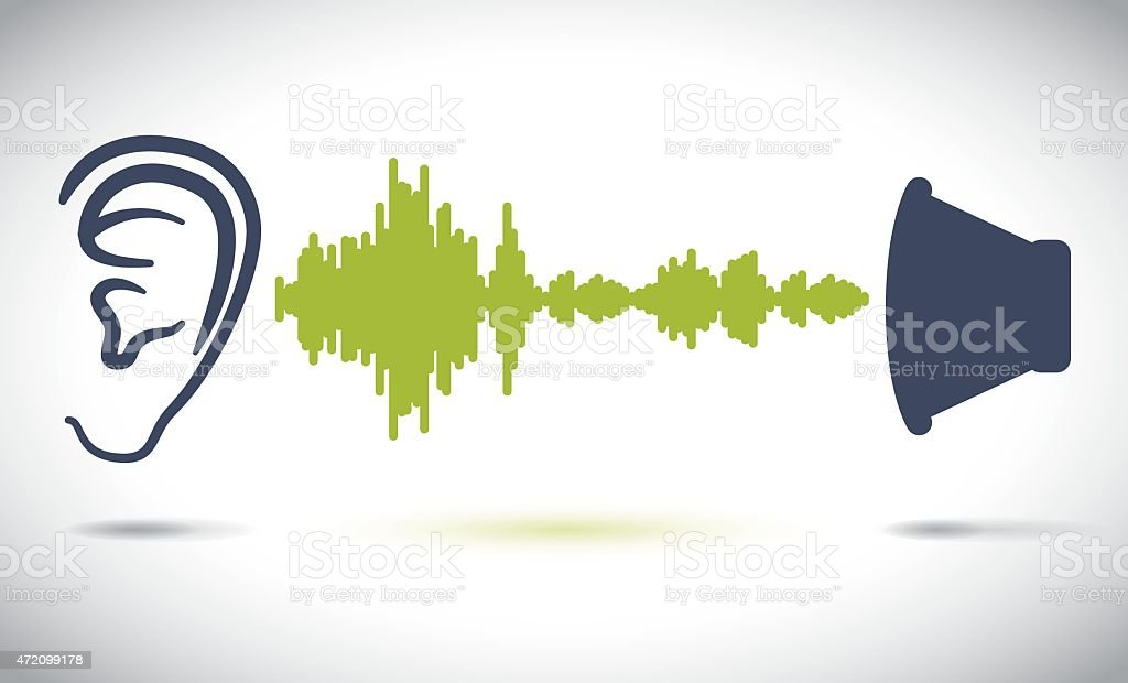 Sound design. vector art illustration
