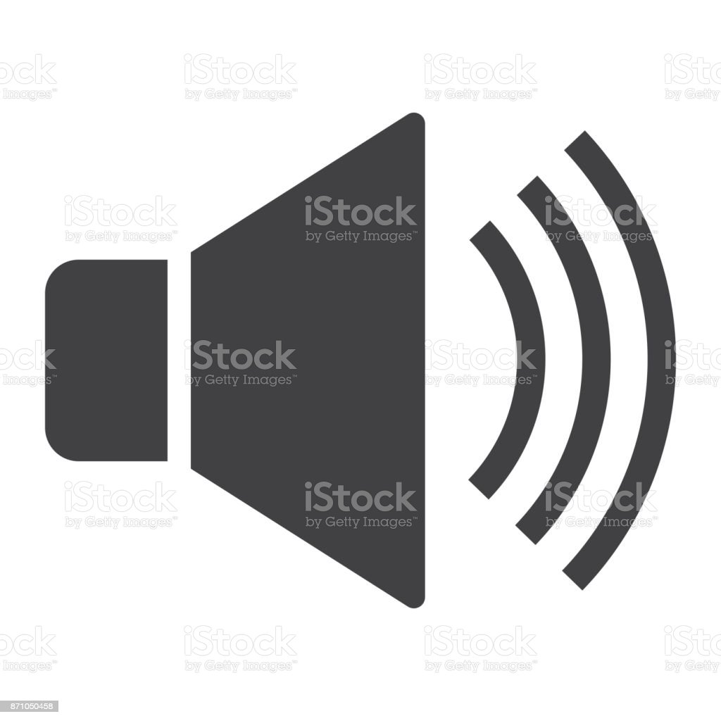 Sound glyph icon, web and mobile, voice sign vector graphics, a solid pattern on a white background, eps 10.