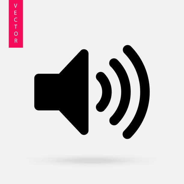 sound icon,  speaker vector icon. - hałas stock illustrations