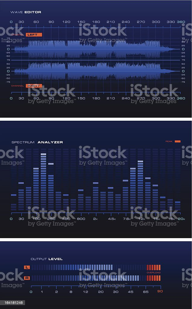 Sound Lab royalty-free stock vector art