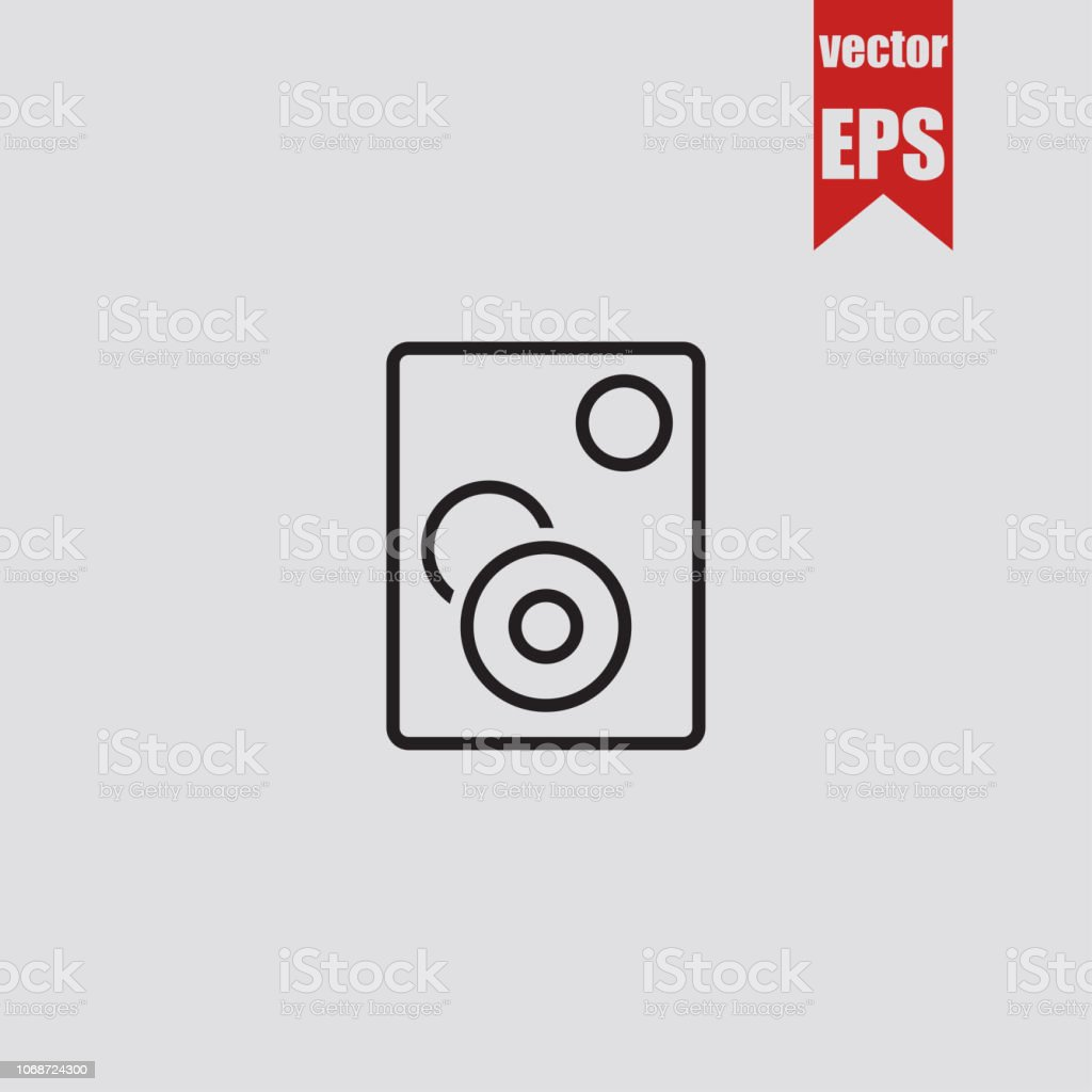 Sound line icon.Vector illustration.
