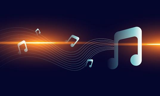 Sound media concept illustration,music background,music logo background.stock illustration