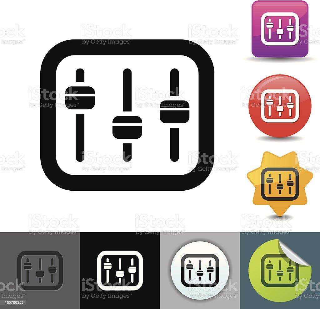 Sound mixer icon | solicosi series vector art illustration