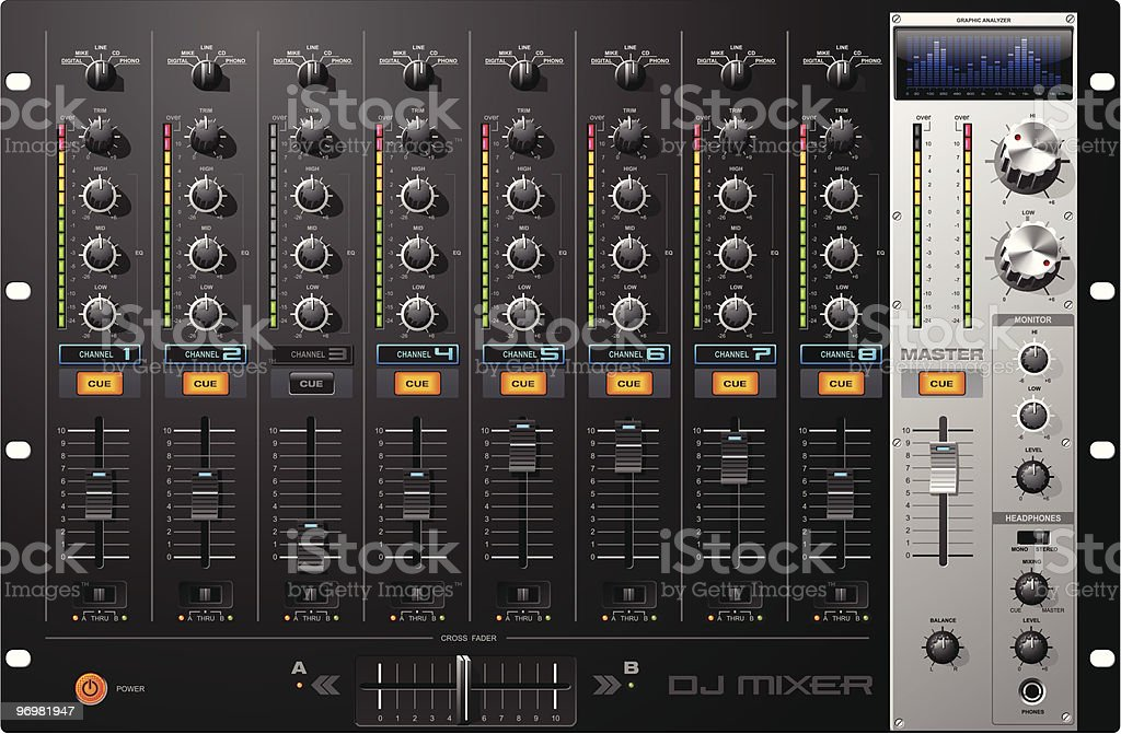 Sound Mixer vector art illustration