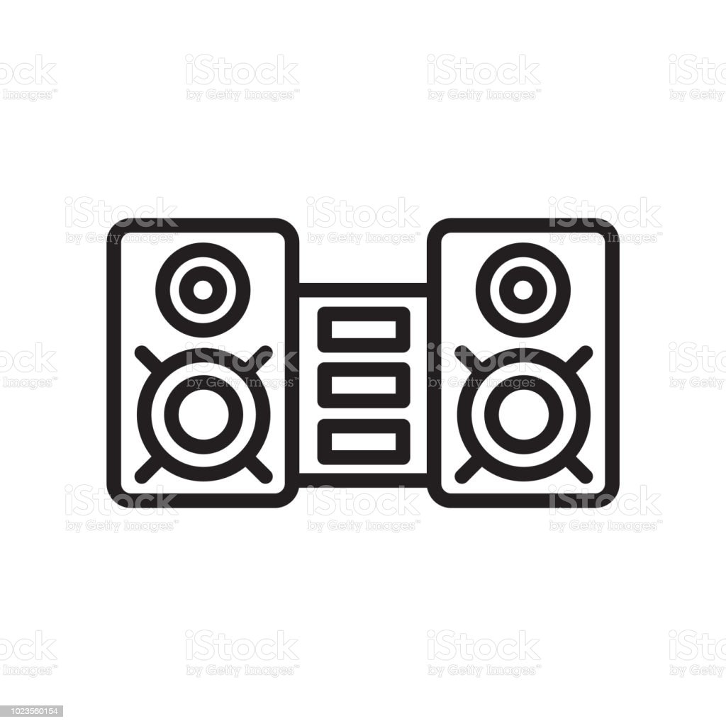 sound system icon vector sign and symbol isolated on white background sound system logo concept stock illustration download image now istock sound system icon vector sign and symbol isolated on white background sound system logo concept stock illustration download image now istock