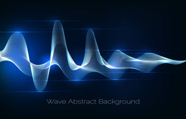 sound wave abstract background. audio waveform vector illustration - sound wave stock illustrations, clip art, cartoons, & icons