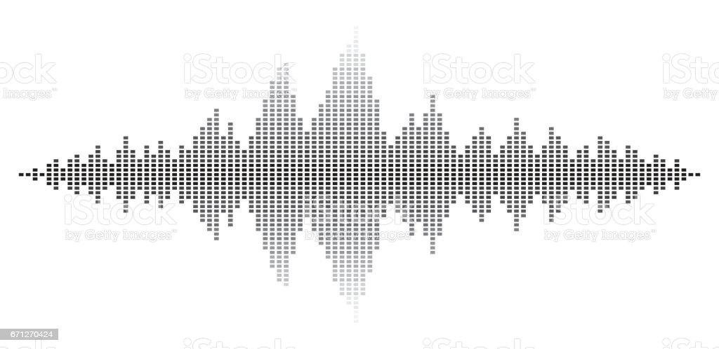 Sound wave abstract background vector design vector art illustration