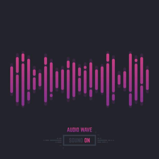 sound wave audio - sound wave stock illustrations, clip art, cartoons, & icons