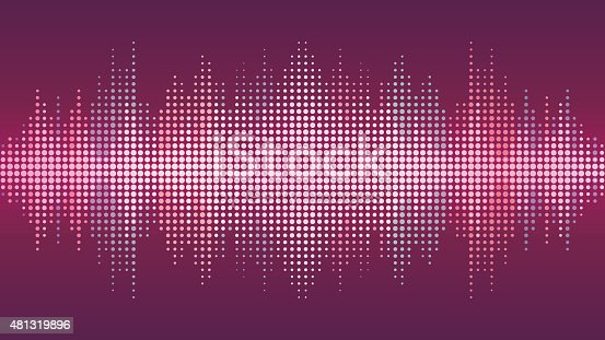 Vector Sound Wave Background