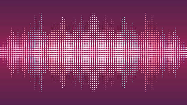 sound wave background - sound wave stock illustrations, clip art, cartoons, & icons