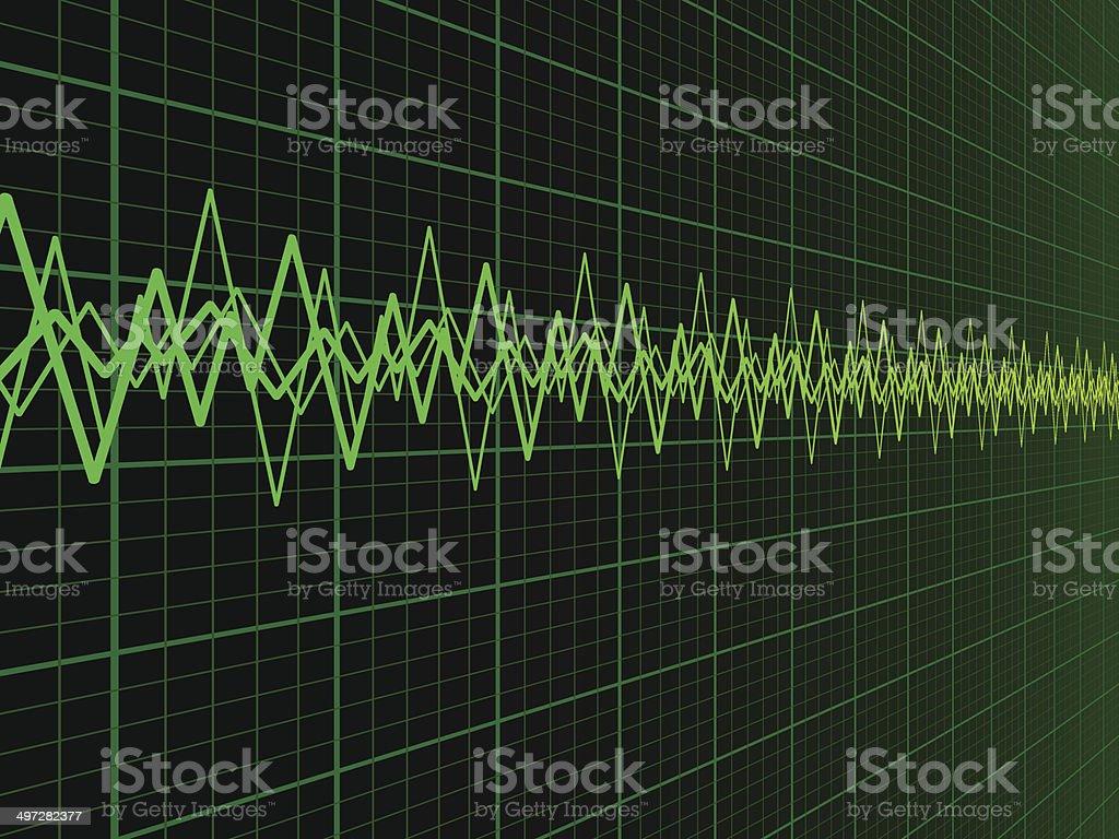 Sound Wave Background vector art illustration