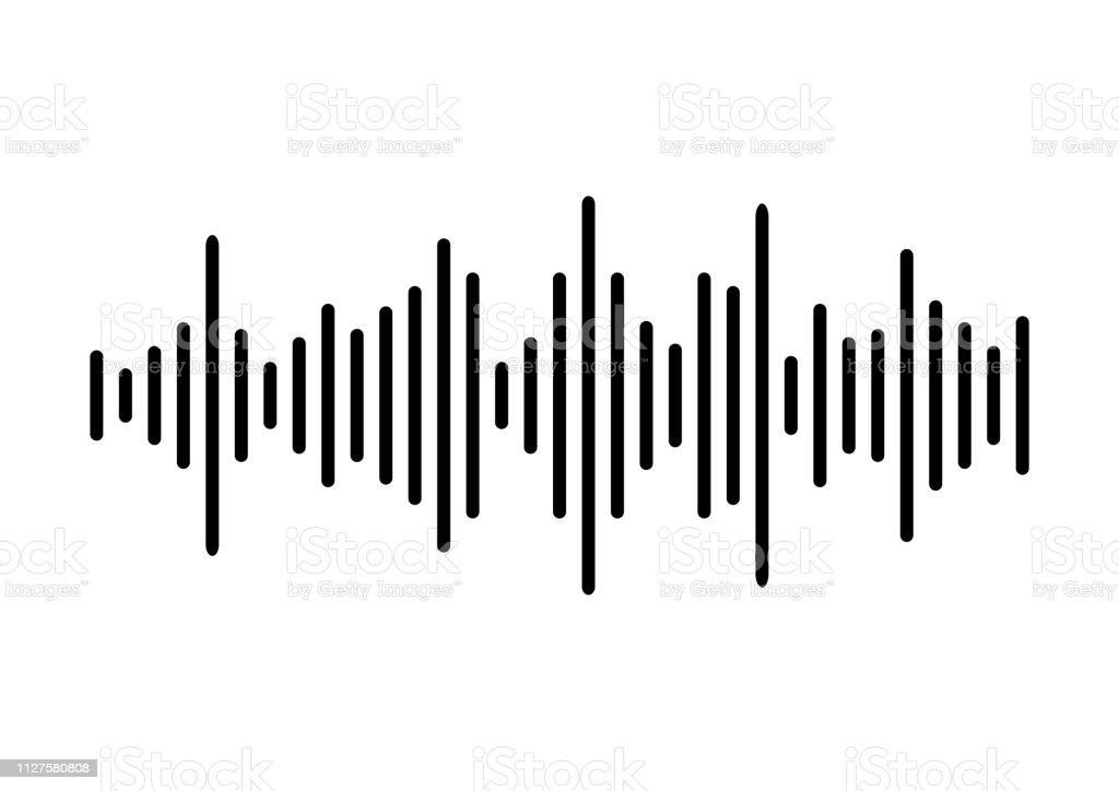 音波の背景。ベクトル図 - DJのロイヤリティフリーベクトルアート