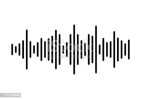 Sound wave background. Vector illustration