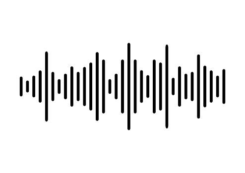 Sound wave background. Vector illustration