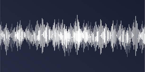 サウンドウェーブクラシック背景 - 音響点のイラスト素材/クリップアート素材/マンガ素材/アイコン素材