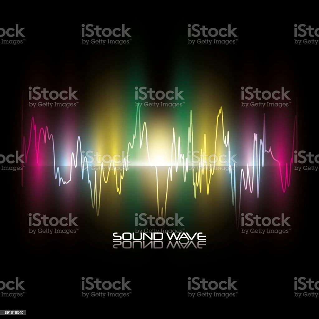 Sound wave design vector art illustration