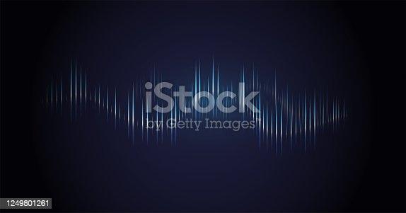 Sound wave. Dynamic vibration wallpaper