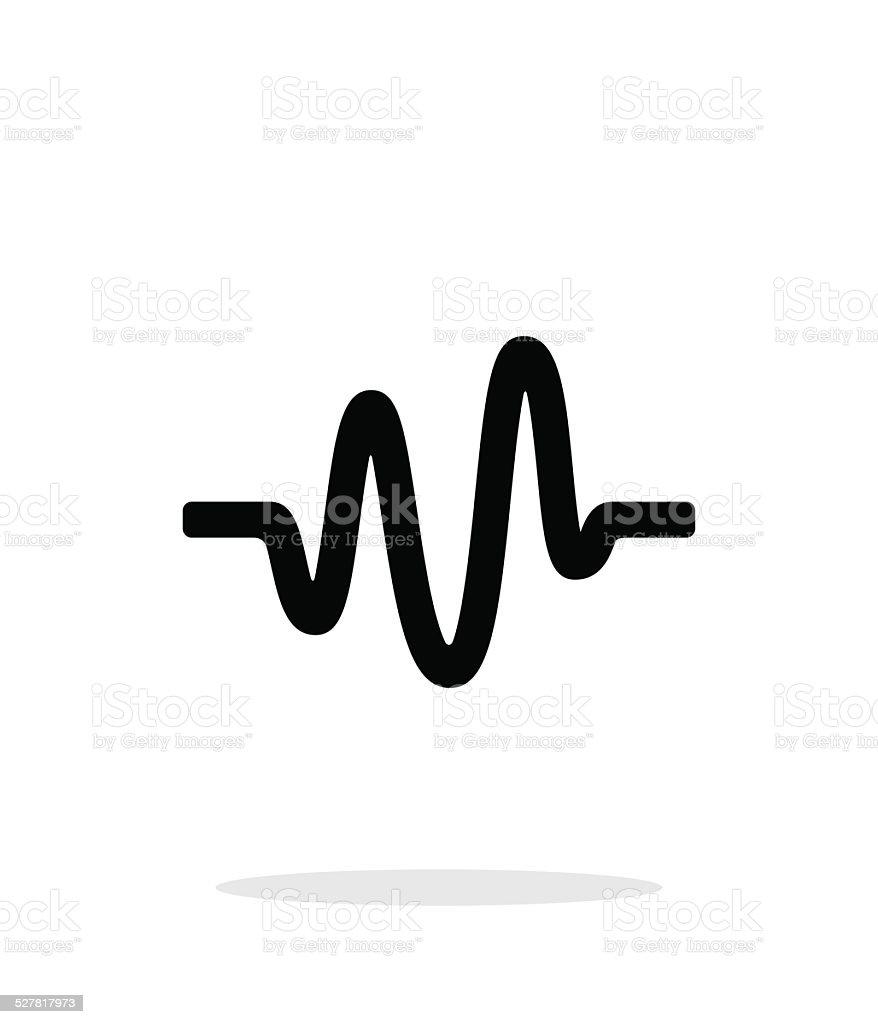 Sound wave icon on white background. vector art illustration