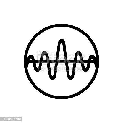 istock sound wave icon vector. Isolated contour symbol illustration 1210478739