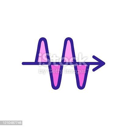istock sound wave icon vector. Isolated contour symbol illustration 1210487746