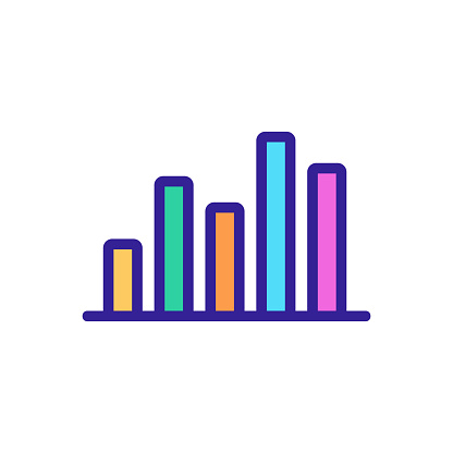 sound wave icon vector. Isolated contour symbol illustration