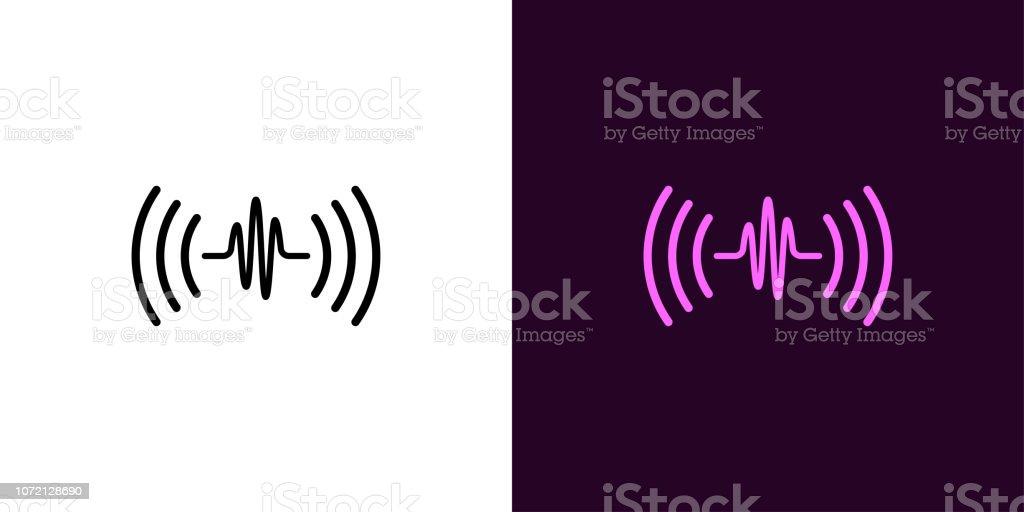 Sound wave illustration. Voice sound assistant vector art illustration