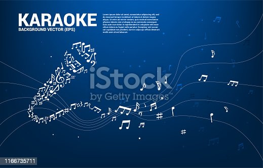 karaoke and concert graphic visual style concept