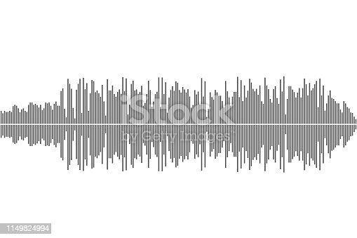 Sound wave music abstract background. Vector eps10