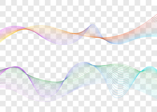 sound wave, music waveform - double exposure stock illustrations