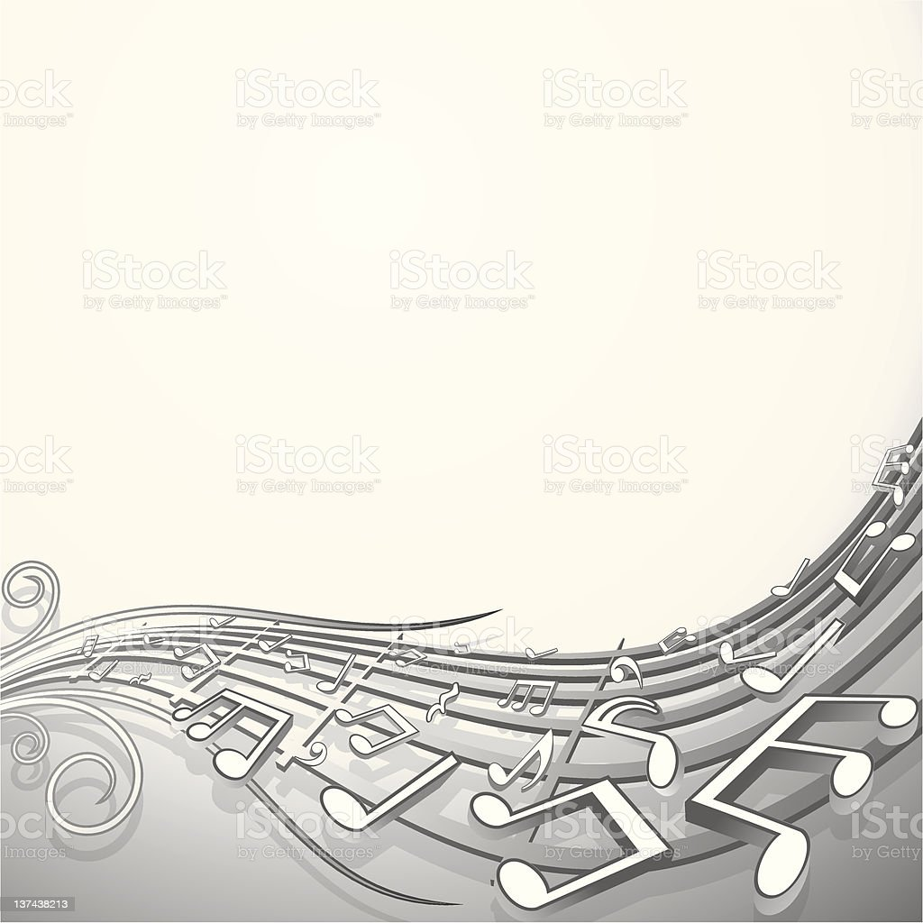 Sound wave. Musical Background royalty-free stock vector art
