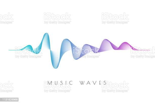 黒の背景にサウンドウェーブ - アナログレコードのベクターアート素材や画像を多数ご用意