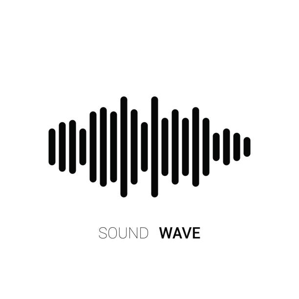 sound wave on white background. music equalizer. vector - sound wave stock illustrations, clip art, cartoons, & icons