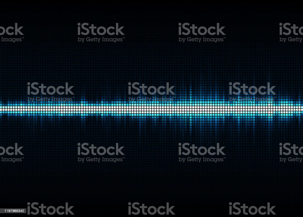 Sound Wave Vector Background Blue Digital Equalize Stock Illustration Download Image Now Istock