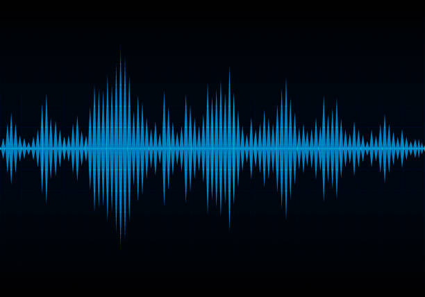 sound wave vector background - hałas stock illustrations