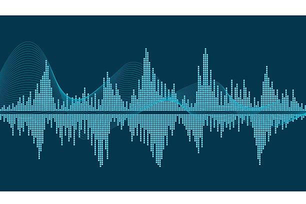 sound wave - sound wave grafiken stock-grafiken, -clipart, -cartoons und -symbole