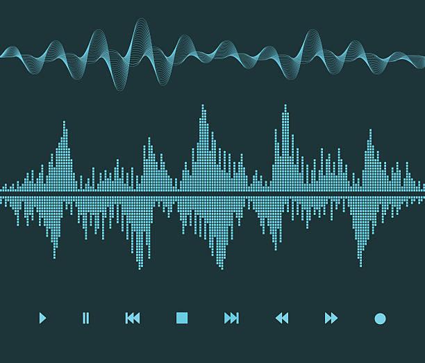 sound wave - sound wave stock illustrations, clip art, cartoons, & icons