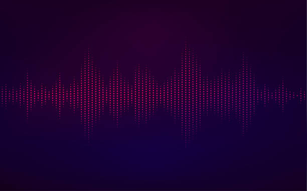 sound wave - hałas stock illustrations