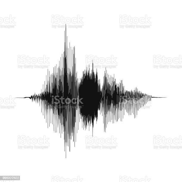 音の波録音コンセプトと音楽の録音のコンセプトアナログ オーディオ波の振幅 - DJのベクターアート素材や画像を多数ご用意