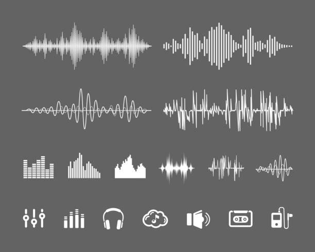 Ton-Wellenformen – Vektorgrafik