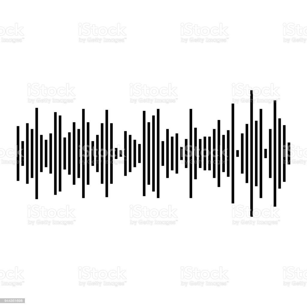 sound waves audio waves display monochrome stock vector art more rh istockphoto com