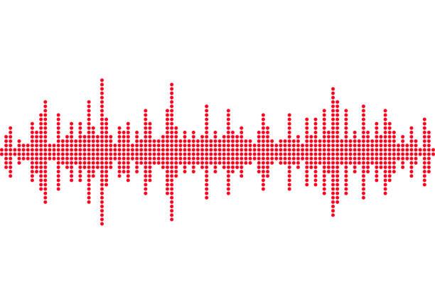 schallwellen hintergrund musik runden wellenform - audiozubehör stock-grafiken, -clipart, -cartoons und -symbole