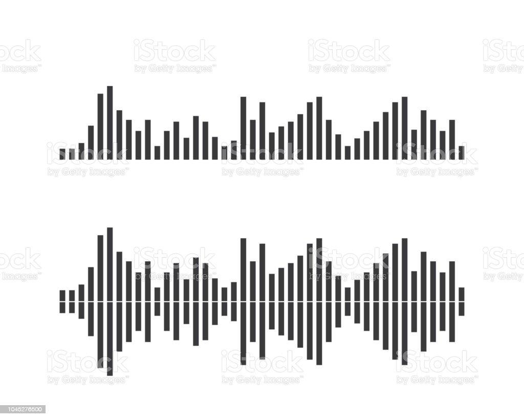 Sound Waves Design Template Stock Illustration - Download Image Now