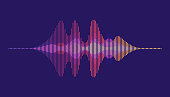 istock Sound waves. Motion sound wave abstract background. 1176100626