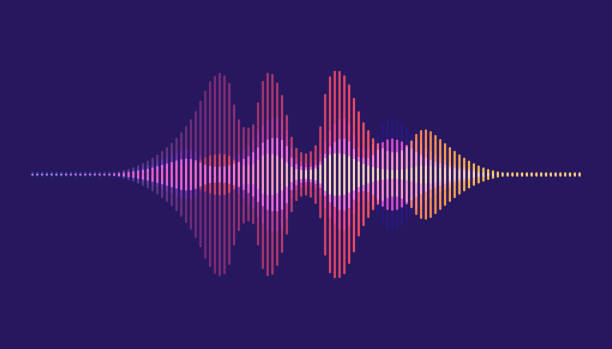 sound waves. motion sound wave abstract background. - hałas stock illustrations
