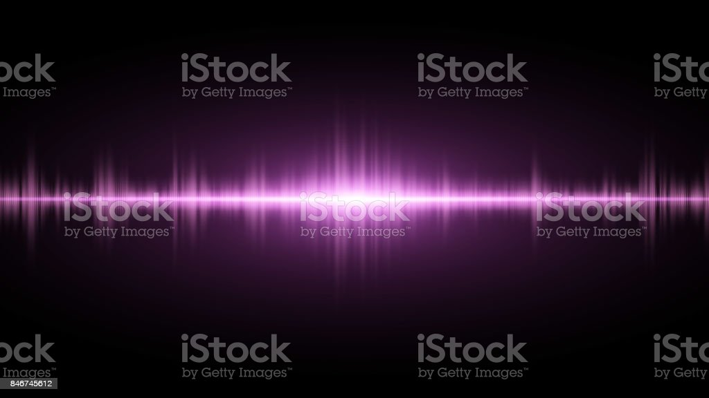 Sound waves of light purple on a dark background. Background for the radio, club, party. Vibration of light. Bright flash of light. Vector illustration vector art illustration
