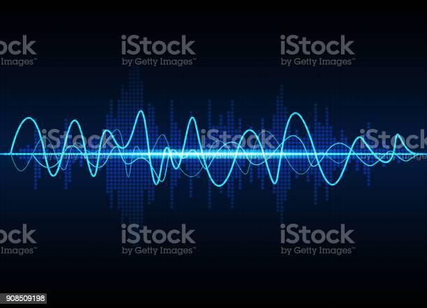 音波振動グロー光抽象的な技術の背景 - つながりのベクターアート素材や画像を多数ご用意