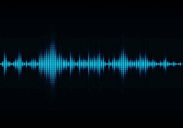 音波振動グロー光、抽象的な技術の背景 - 音響点のイラスト素材/クリップアート素材/マンガ素材/アイコン素材
