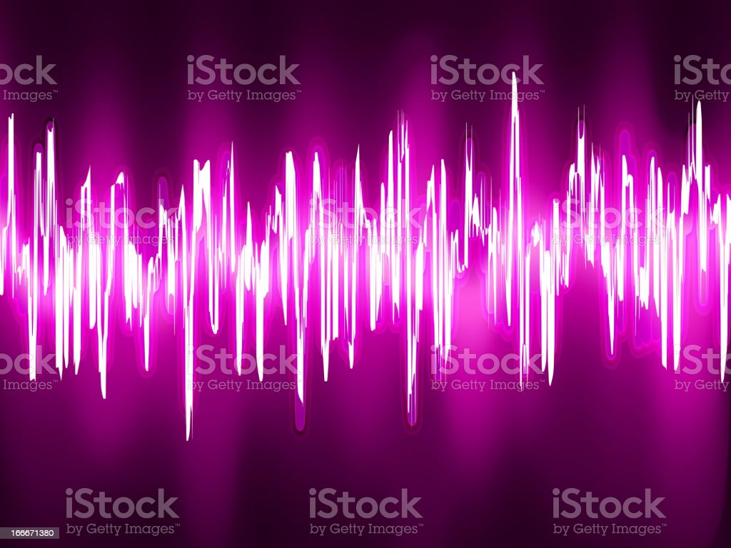Sound waves oscillating glow light. EPS 8 royalty-free stock vector art