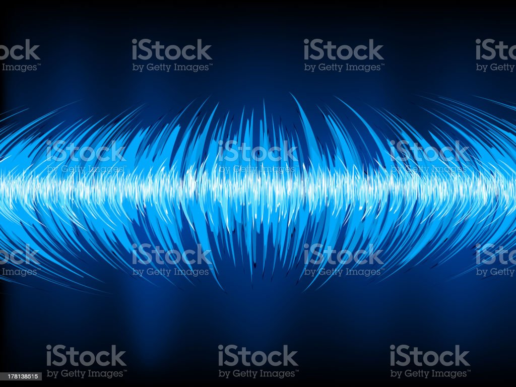 Sound waves oscillating on black. EPS 10 royalty-free sound waves oscillating on black eps 10 stock vector art & more images of abstract